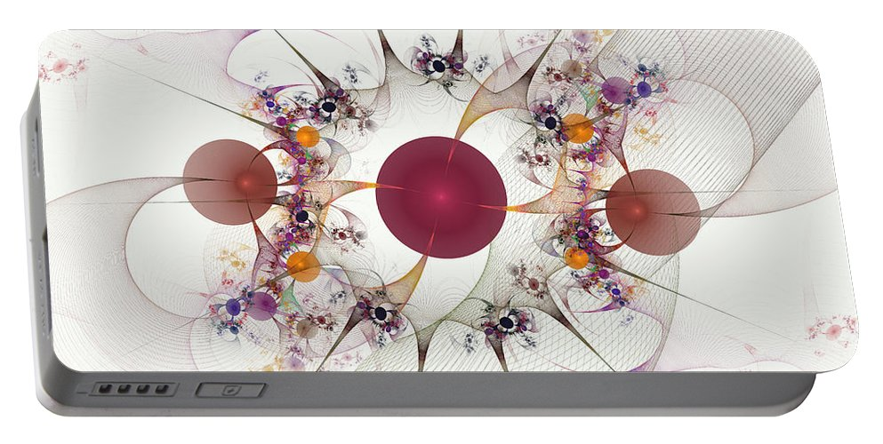 Globes Portable Battery Charger featuring the digital art Globes Of Many by Deborah Benoit