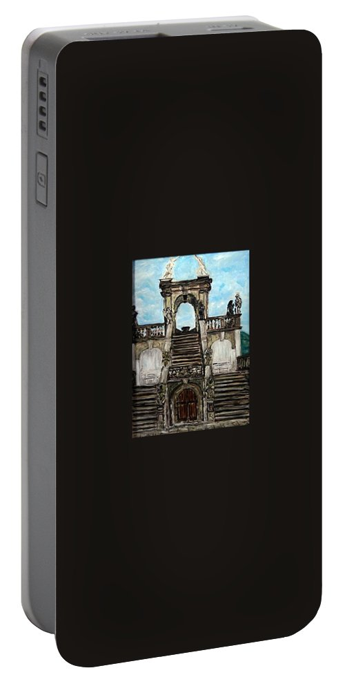 Landscape Portable Battery Charger featuring the painting Gloriet by Pablo de Choros