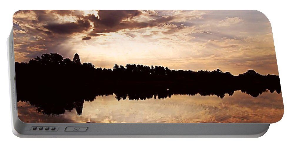Sunrise Portable Battery Charger featuring the photograph Glorious Moments by Gaby Swanson