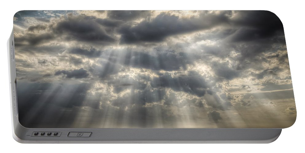 Tampa Portable Battery Charger featuring the photograph Glorious Rays Of The Heavens by Ronald Kotinsky