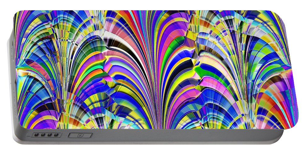 Abstract Portable Battery Charger featuring the digital art Glorious by Tim Allen