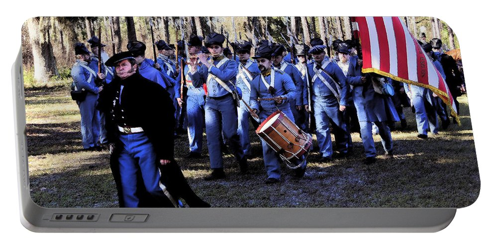 U.s. Army Portable Battery Charger featuring the painting Glory Bound by David Lee Thompson