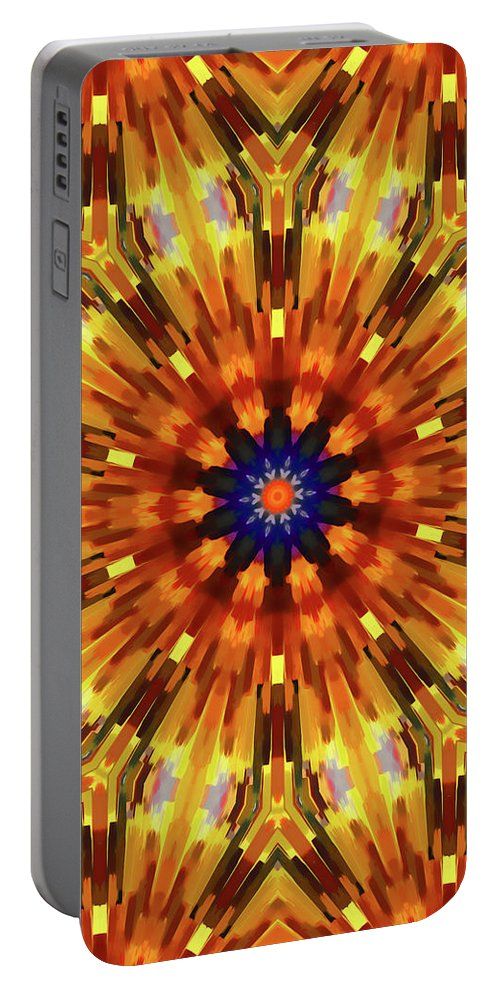 Mandala Art Portable Battery Charger featuring the painting Glory by Jeelan Clark