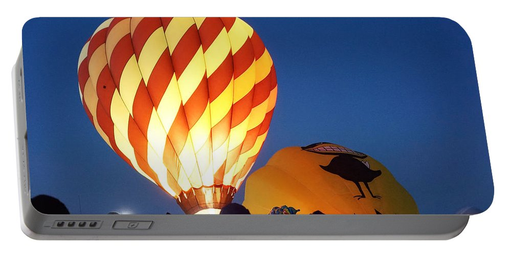 Hot Air Balloon Portable Battery Charger featuring the photograph Glow by Brooke Bowdren