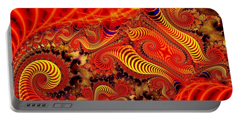 Coils Portable Battery Charger featuring the digital art Glow Coils by Ron Bissett