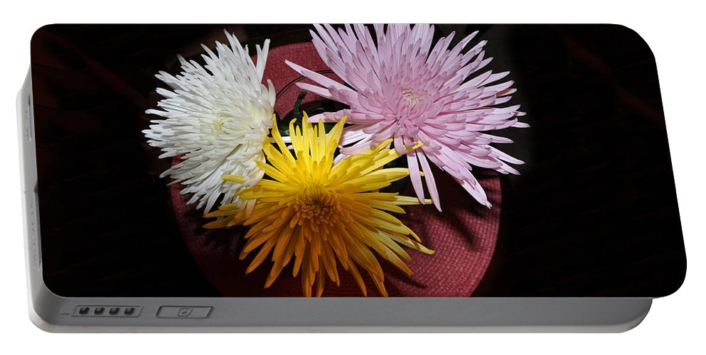 Floral Portable Battery Charger featuring the photograph Glow by Jan Amiss Photography
