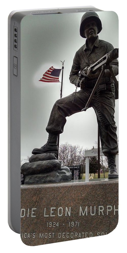 Audie Murphy Portable Battery Charger featuring the photograph Glow Of Patriotism by J L Hodges