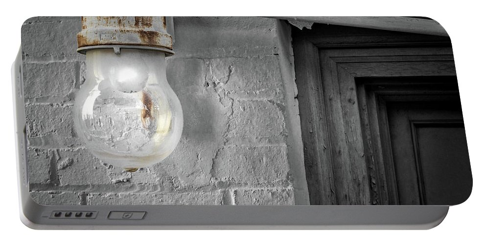 Architecture Portable Battery Charger featuring the photograph Glowing Globe by Jim Love