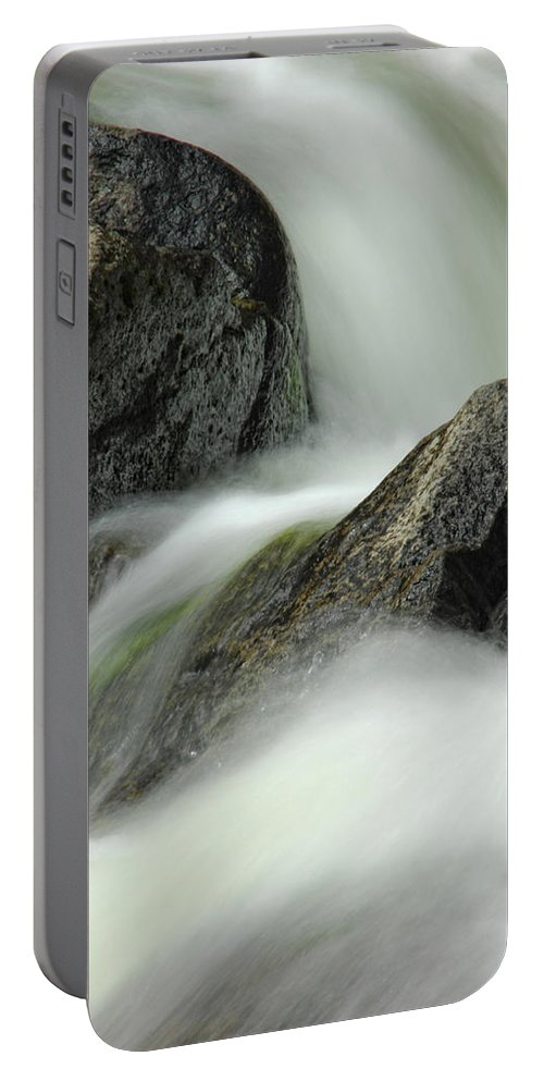 Creek Portable Battery Charger featuring the photograph Go With The Flow by Donna Blackhall