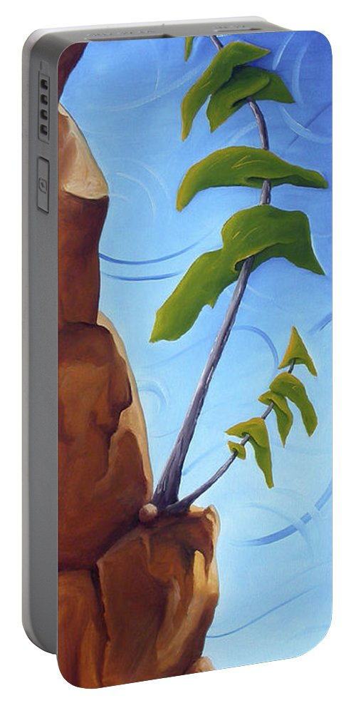 Landscape Portable Battery Charger featuring the painting Goals by Richard Hoedl