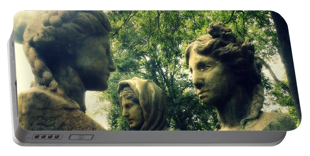 Powerful Portable Battery Charger featuring the photograph Goddess Statues by Lisa Victoria Proulx