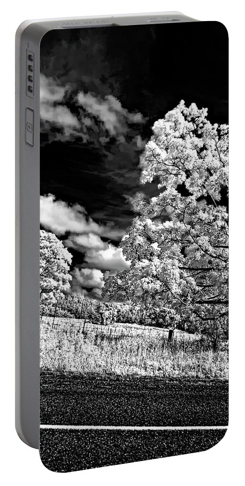 Infrared Portable Battery Charger featuring the photograph Goin' Down The Road 2 by Steve Harrington