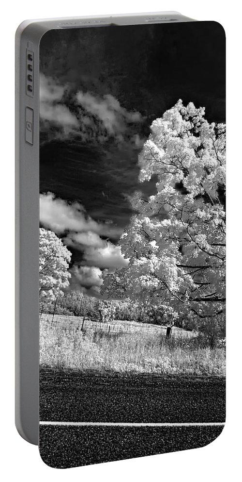 Infrared Portable Battery Charger featuring the photograph Goin' Down The Road by Steve Harrington
