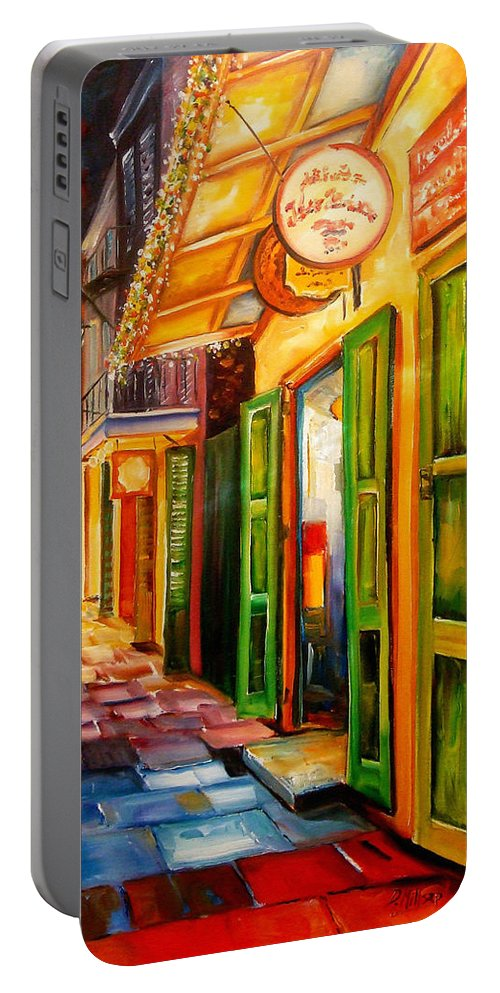New Orleans Portable Battery Charger featuring the painting Going Back To New Orleans by Diane Millsap