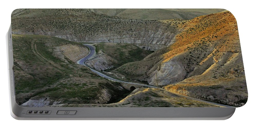 Judean Desert Portable Battery Charger featuring the photograph Going Up To Jerusalem by Lydia Holly