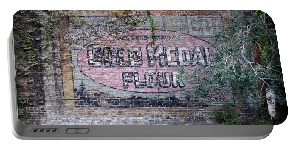 Gold Medal Flour Portable Battery Charger featuring the photograph Gold Medal Flour by Tim Nyberg