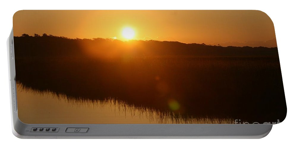Glow Portable Battery Charger featuring the photograph Gold Morning by Nadine Rippelmeyer