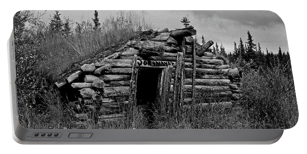 Gold Portable Battery Charger featuring the photograph Gold Rush Cabin - Yukon by Juergen Weiss