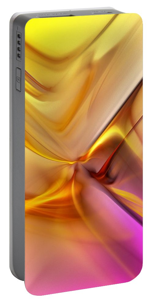 Fine Art Portable Battery Charger featuring the digital art Golden Abstract 042711 by David Lane