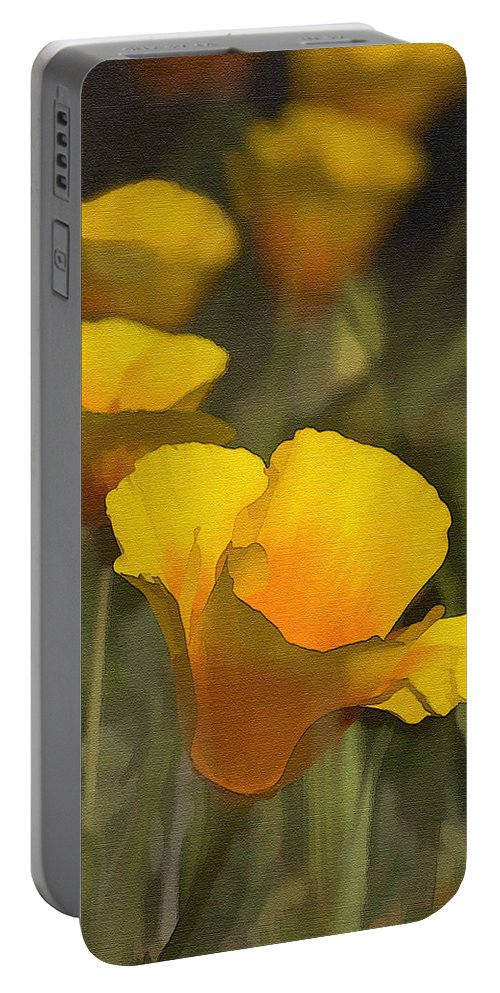 Poppy Portable Battery Charger featuring the photograph Golden Beauties by Sharon Foster