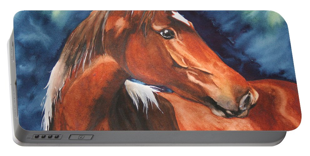 Horse Portable Battery Charger featuring the painting Golden Boy by Jean Blackmer