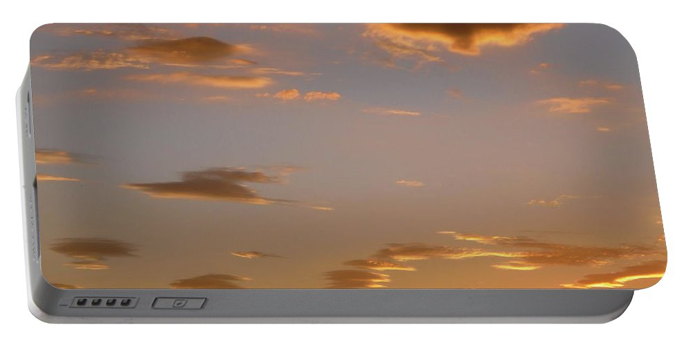 Clouds Portable Battery Charger featuring the photograph Golden Clouds by Stephanie Moore
