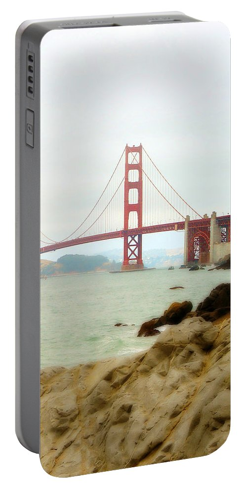 California Portable Battery Charger featuring the photograph Golden Gate Bridge by Nancy Ingersoll