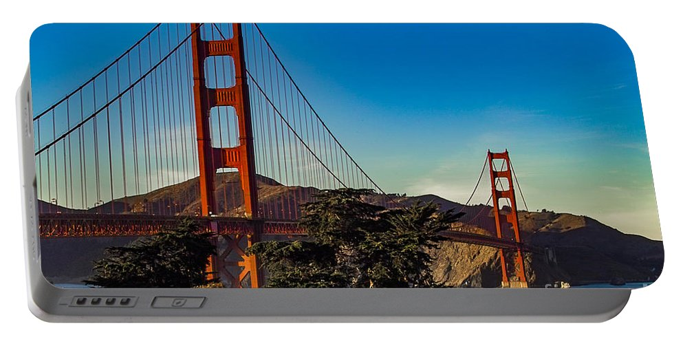 Golden Gate Bridge Portable Battery Charger featuring the photograph Golden Gate Bridge San Francisco California by Kimberly Blom-Roemer