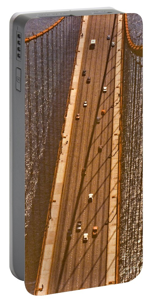 Golden Portable Battery Charger featuring the photograph Golden Gate Bridge by Thomas Marchessault