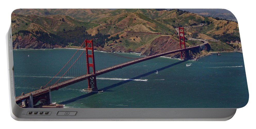 Golden Gate Bridge Portable Battery Charger featuring the photograph Golden Gate by Donna Blackhall