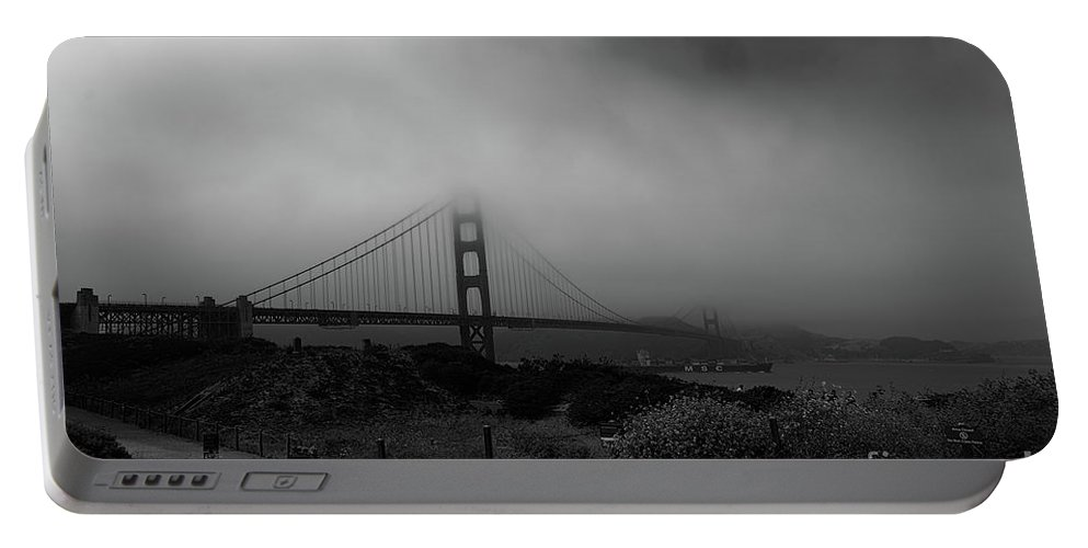 Golden Gate Bridge Portable Battery Charger featuring the photograph Golden Gate Morning by Tommy Anderson