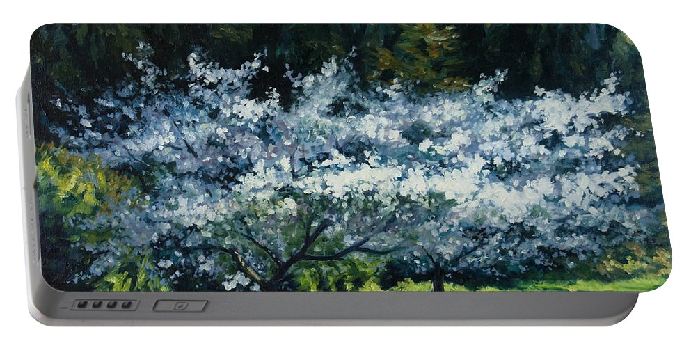 Trees Portable Battery Charger featuring the painting Golden Gate Park by Rick Nederlof