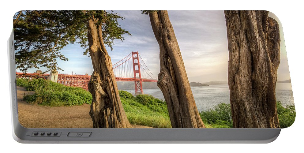 Golden Gate Portable Battery Charger featuring the photograph The Trees Of The Golden Gate by Ronald Kotinsky