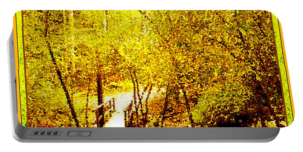 Golden Glow Portable Battery Charger featuring the photograph Golden Glow by Seth Weaver