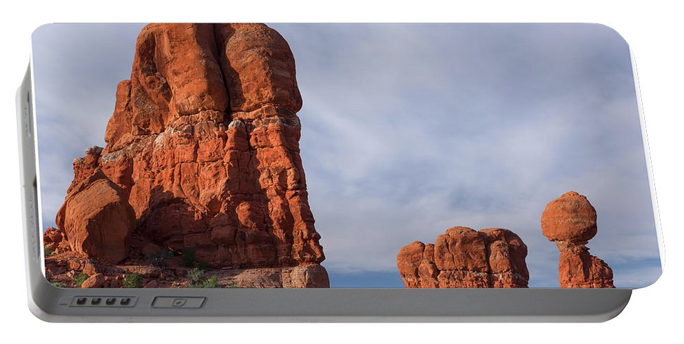 Sandstone Portable Battery Charger featuring the photograph Golden Hoodoos Arches Np by Daniel Kelly