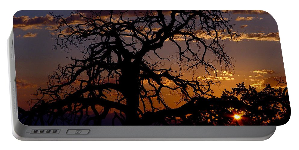 Sunset Portable Battery Charger featuring the photograph Golden Hour by Peter Piatt