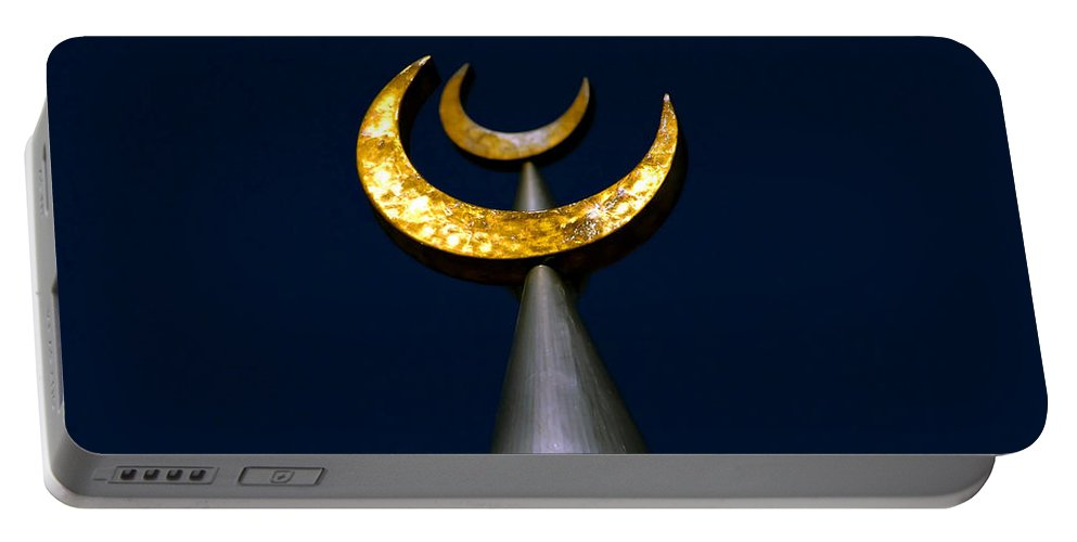Fine Art Photography Portable Battery Charger featuring the photograph Golden Lunar Minarets by David Lee Thompson