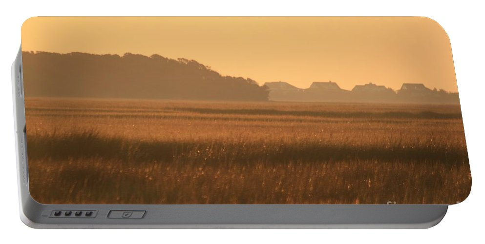 Marsh Portable Battery Charger featuring the photograph Golden Marshes by Nadine Rippelmeyer