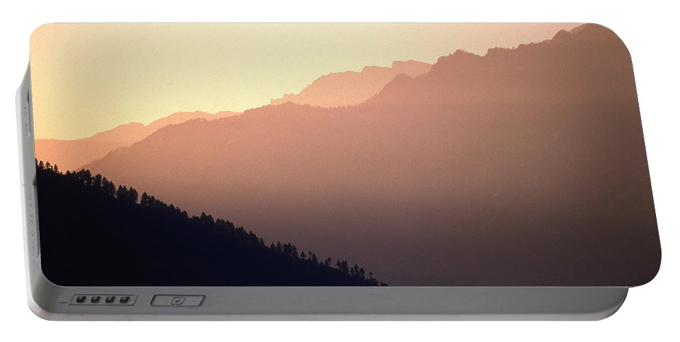 Langtang Portable Battery Charger featuring the photograph Golden Mountains by Patrick Klauss