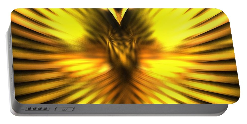Apophysis Portable Battery Charger featuring the digital art Golden Phoenix by Kim Sy Ok
