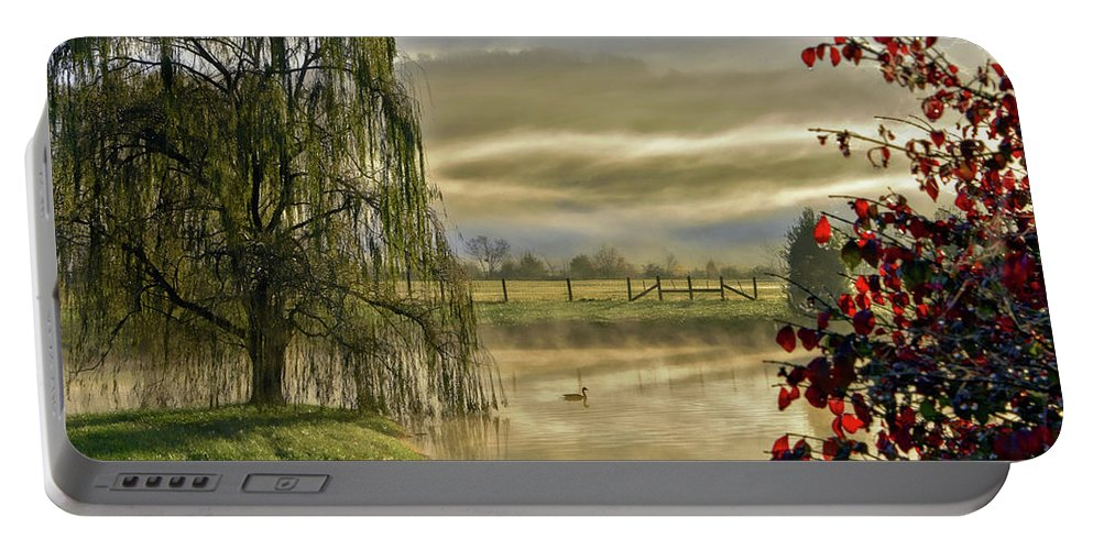Huntsville Alabama Portable Battery Charger featuring the photograph Golden Pond by Jeannee Gannuch
