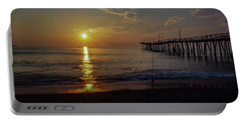 Landscape Portable Battery Charger featuring the photograph Golden Rays by Dan Zarate