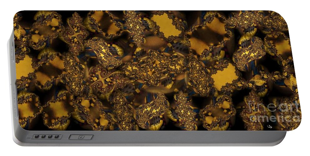Fractal Portable Battery Charger featuring the photograph Golden Shimmer by Ron Bissett