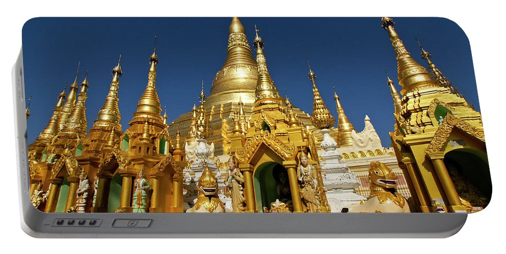 Asia Portable Battery Charger featuring the photograph Golden Spires by Michele Burgess