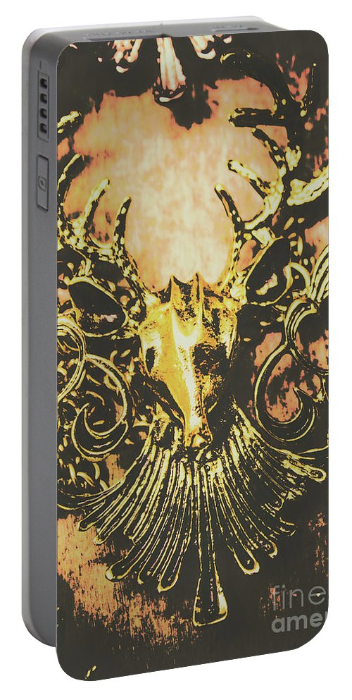 Decoration Portable Battery Charger featuring the photograph Golden Stag by Jorgo Photography - Wall Art Gallery