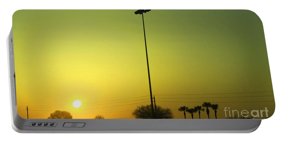 Golden Portable Battery Charger featuring the photograph Golden Sunrise by Deborah Benoit