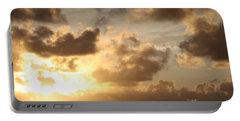 Sunrise Portable Battery Charger featuring the photograph Golden Sunrise On Kauai by Nadine Rippelmeyer