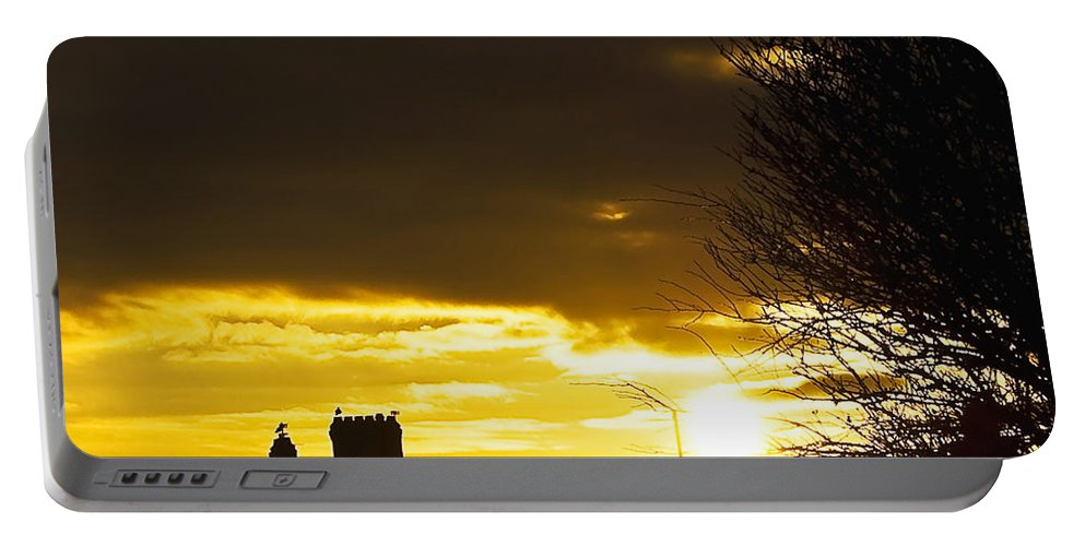 Background Portable Battery Charger featuring the photograph Golden Sunrise by Svetlana Sewell