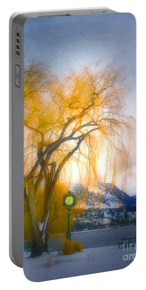Tree Portable Battery Charger featuring the photograph Golden Time by Tara Turner