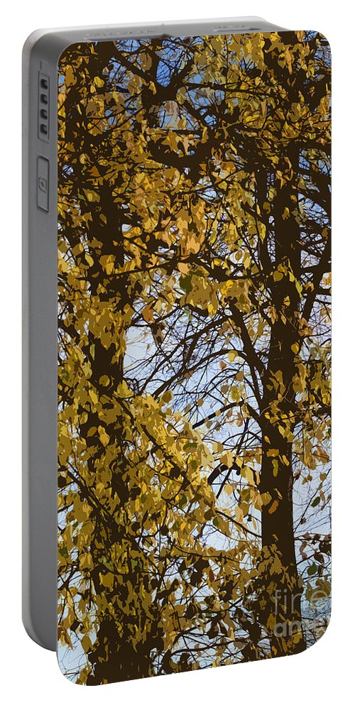 Autumn Portable Battery Charger featuring the photograph Golden Tree 2 by Carol Lynch